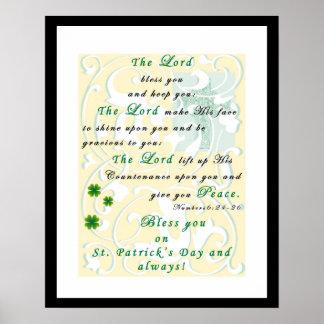 セントパトリックの日の祈りの言葉の天恵ポスター ポスター