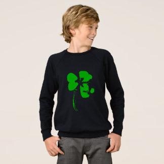 セントパトリックの日の緑のクローバー-男の子のワイシャツ スウェットシャツ
