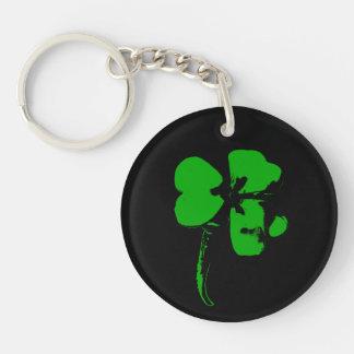 セントパトリックの日の緑のクローバー- Keychain キーホルダー