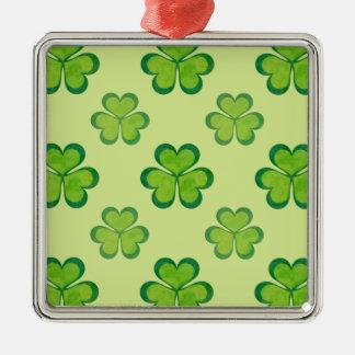 セントパトリックの日の緑のシャムロックの幸運なクローバー メタルオーナメント