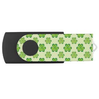 セントパトリックの日の緑のシャムロックの幸運なクローバー USBフラッシュドライブ