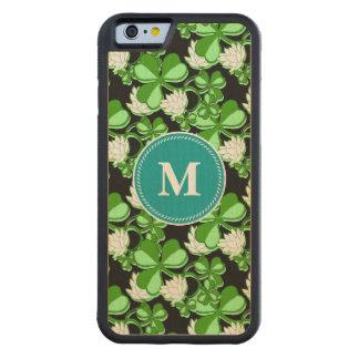 セントパトリックの日の緑のシャムロックアイルランド CarvedメープルiPhone 6バンパーケース