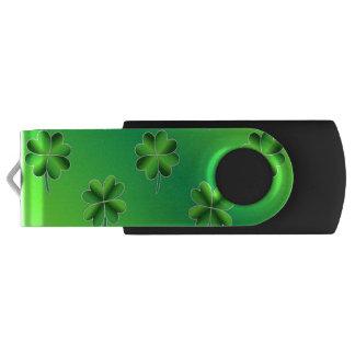 セントパトリックの日の緑のシャムロックUSBのフラッシュドライブ USBフラッシュドライブ