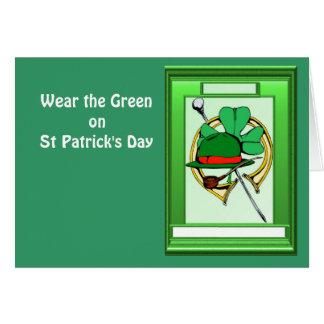 セントパトリックの日の緑を身に着けて下さい カード