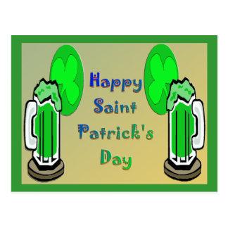 セントパトリックの日の緑ビール2 ポストカード