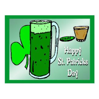 セントパトリックの日の緑ビール3 ポストカード