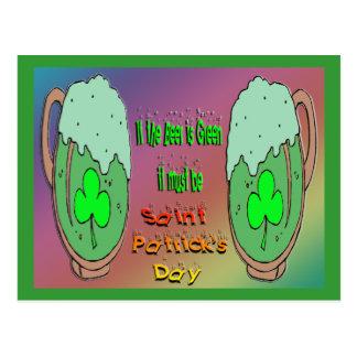 セントパトリックの日の緑ビール ポストカード