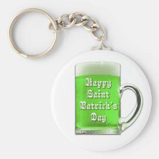 セントパトリックの日の緑ビールKeychain キーホルダー