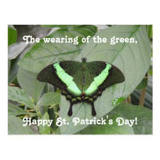 セントパトリックの日の蝶 ポストカード