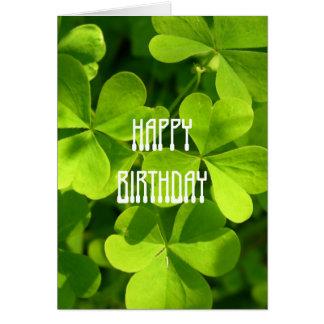セントパトリックの日の誕生日 カード