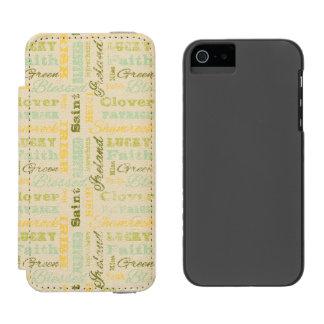 セントパトリックの日のiPhoneのウォレットケース Incipio Watson™ iPhone 5 財布 ケース