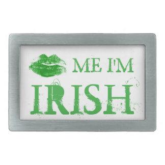 セントパトリックの日は私によってがアイルランドの緑の唇である私に接吻します 長方形ベルトバックル