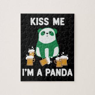 セントパトリックの日は私によってがパンダである私に接吻します ジグソーパズル