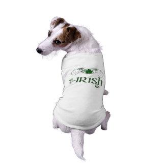 """セントパトリックの日は-犬のセーター""""の""""あなたのアイルランド語を得ます ペット服"""