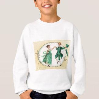 セントパトリックの日カードを踊るヴィンテージ スウェットシャツ
