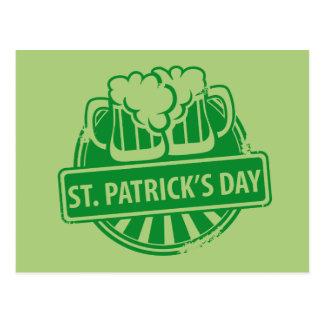 セントパトリックの日ビールロゴ ポストカード