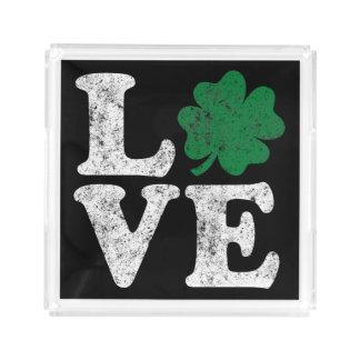 セントパトリックの日愛シャムロックのアイルランド語 アクリルトレー