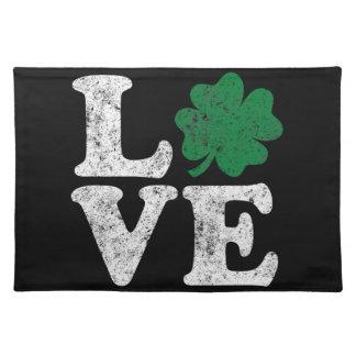 セントパトリックの日愛シャムロックのアイルランド語 ランチョンマット