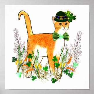 セントパトリックの日猫 ポスター