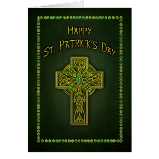 セントパトリックの日-ケルト十字 カード