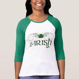 """セントパトリックの日-ワイシャツ""""の""""あなたのアイルランド語を得て下さい Tシャツ"""