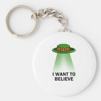 セントパトリックの日、私は信じたいと思います キーホルダー