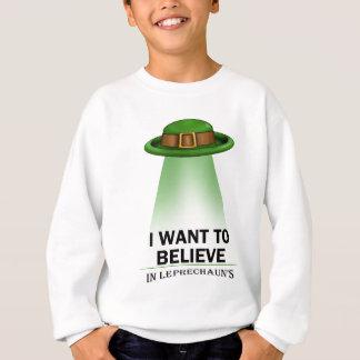 セントパトリックの日、私は信じたいと思います スウェットシャツ