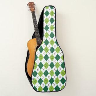 セントパトリックの日。 緑Argyle. ギターケース