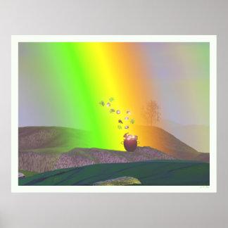 セントパトリックの日-虹の金ゴールド ポスター