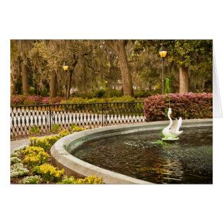 セントパトリックの日- Forsythの噴水、サバンナ、GA カード
