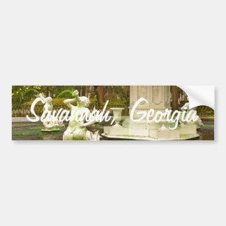 セントパトリックの日- Forsythの噴水、サバンナ、GA バンパーステッカー
