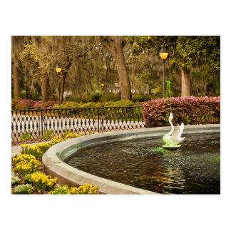 セントパトリックの日- Forsythの噴水、サバンナ、GA ポストカード