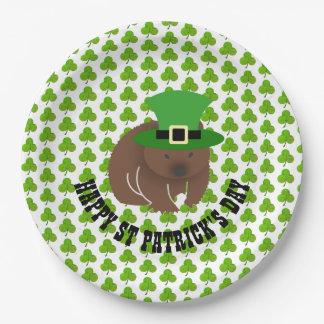 セントパトリックの日Wombat ペーパープレート