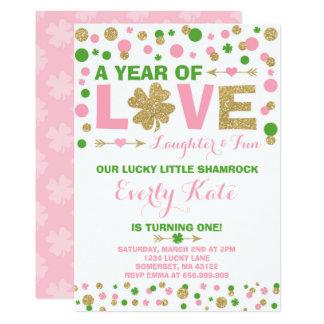 セントパトリックの誕生日の招待状の小さいシャムロック カード