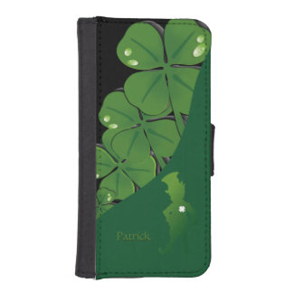 セントパトリックアイルランドのシャムロック iPhoneSE/5/5sウォレットケース