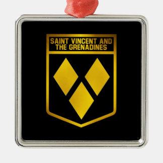 セントビンセント・グレナディン諸島の紋章 メタルオーナメント