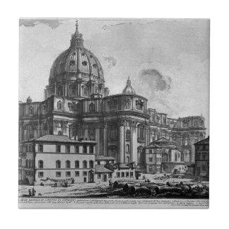 セントピーターのバシリカ会堂の内部の眺め タイル
