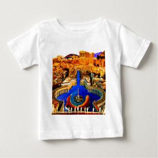 セントピーターの正方形の水中アテネのアクロポリス ベビーTシャツ