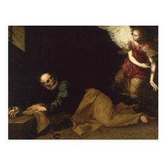 セントピーターは天使1639年によって放しました ポストカード