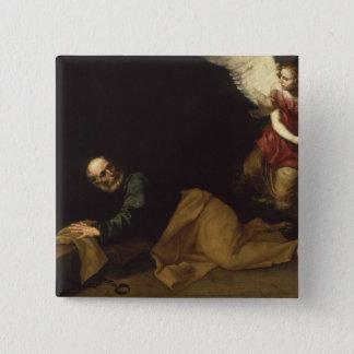セントピーターは天使1639年によって放しました 5.1CM 正方形バッジ
