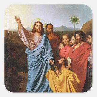 セントピーター1820年に鍵を戻しているイエス・キリスト スクエアシール