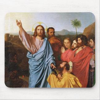 セントピーター1820年に鍵を戻しているイエス・キリスト マウスパッド