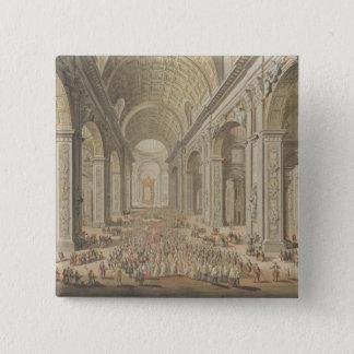 セントピーター、ローマの行列(w/c腐食に 5.1cm 正方形バッジ