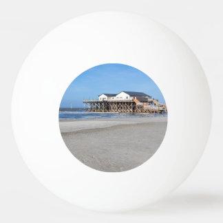 セントピーターOrdingのビーチの支柱の家 卓球ボール