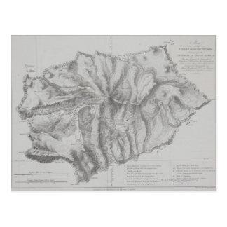 セントヘレナの島の地図 ポストカード