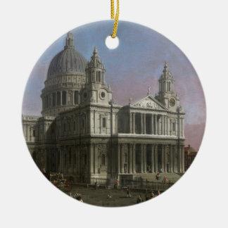セントポールのカテドラル1754年(キャンバスの油) セラミックオーナメント
