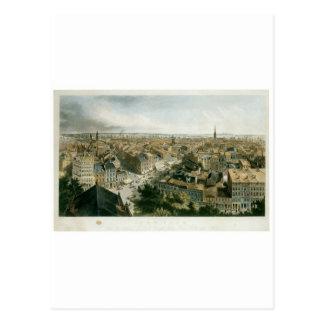 セントポールの教会の尖塔からのニューヨーク ポストカード