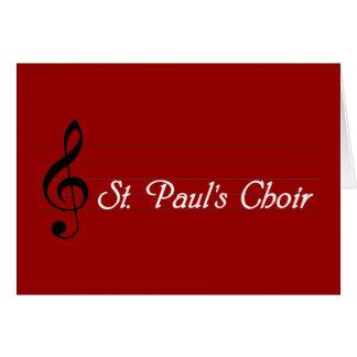 セントポールの聖歌隊 カード
