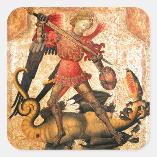 セントマイケルおよびドラゴン(15世紀) スクエアシール