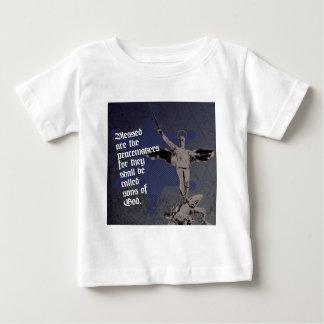 セントマイケルの大天使-保安官の星の代理 ベビーTシャツ